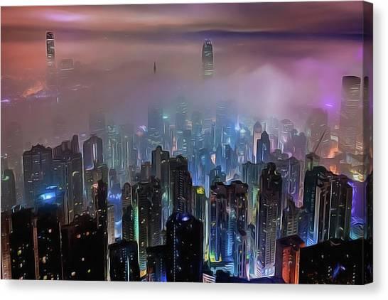 New City Skyline Canvas Print