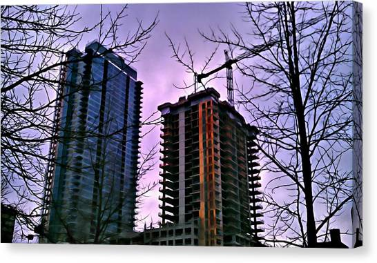 New Construction, Two Towers Canvas Print