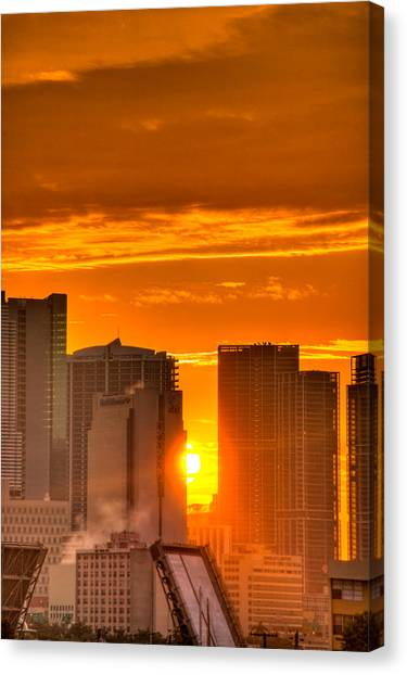 New Day In The City Canvas Print by William Wetmore