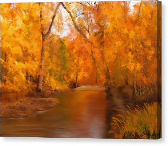 New England Autumn In The Woods Canvas Print