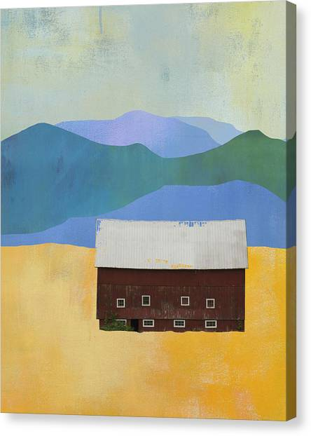 Pioneers Canvas Print - New England Barn Landscape by Jacquie Gouveia