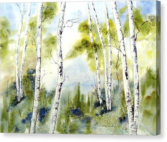 New England Birches Canvas Print