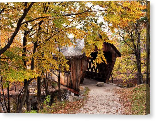New England College No. 63 Covered Bridge  Canvas Print