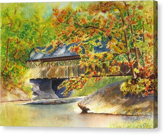 New England  Covered Bridge Canvas Print
