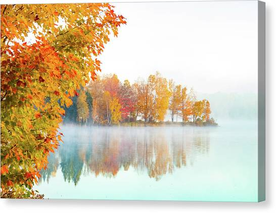 New England Fall Colors Of Maine Canvas Print