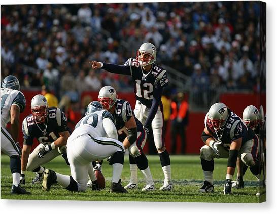 Football Teams Canvas Print - New England Patriots by Maye Loeser