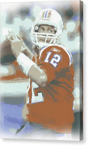 Tom Brady Canvas Print - New England Patriots Tom Brady 2 by Joe Hamilton