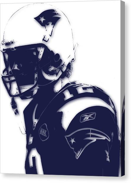 Tom Brady Canvas Print - New England Patriots Tom Brady 4 by Joe Hamilton
