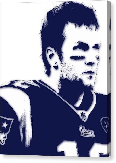 Tom Brady Canvas Print - New England Patriots Tom Brady 5 by Joe Hamilton