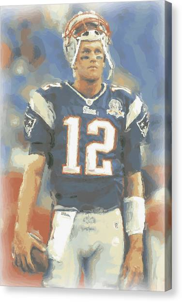 Tom Brady Canvas Print - New England Patriots Tom Brady by Joe Hamilton