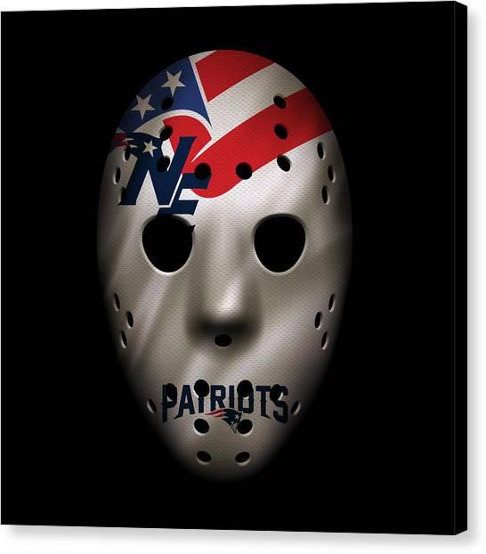 New England Patriots Canvas Print - New England Patriots War Mask 2 by Joe Hamilton