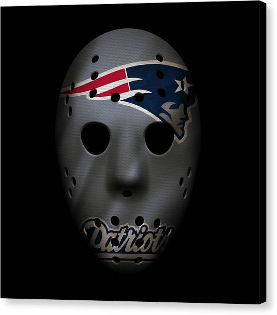 New England Patriots Canvas Print - New England Patriots War Mask 3 by Joe Hamilton