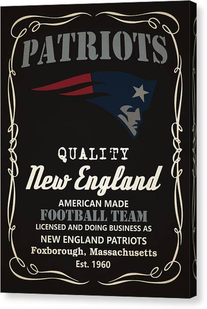 Superbowl Canvas Print - New England Patriots Whiskey by Joe Hamilton