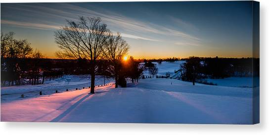 New England Sunrise Canvas Print