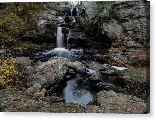 New England Waterfall In Autumn Canvas Print