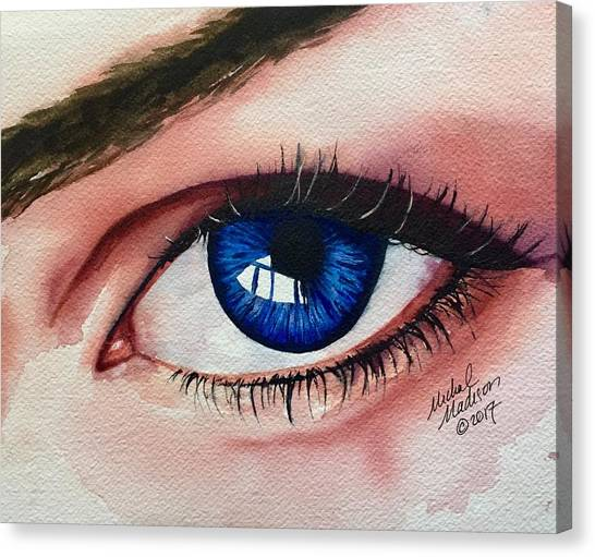 Canvas Print featuring the painting New Eyes by Michal Madison
