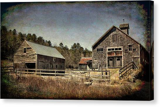 Canvas Print featuring the photograph New Hampshire Old Barn  by Betty Pauwels
