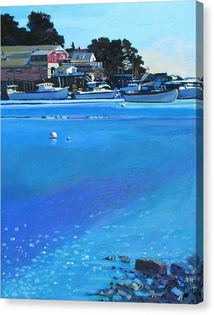New Harbor Canvas Print by Robert Bissett