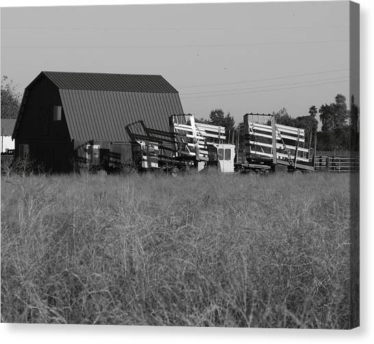 New Holland Bale Wagons Canvas Print by Troy Montemayor