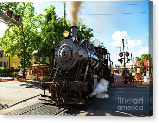 New Hope And Ivyland Railroad  Canvas Print