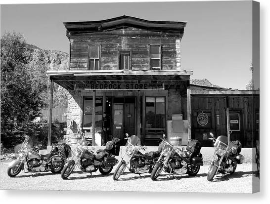 Motorcycle Canvas Print - New Horses At Bedrock by David Lee Thompson