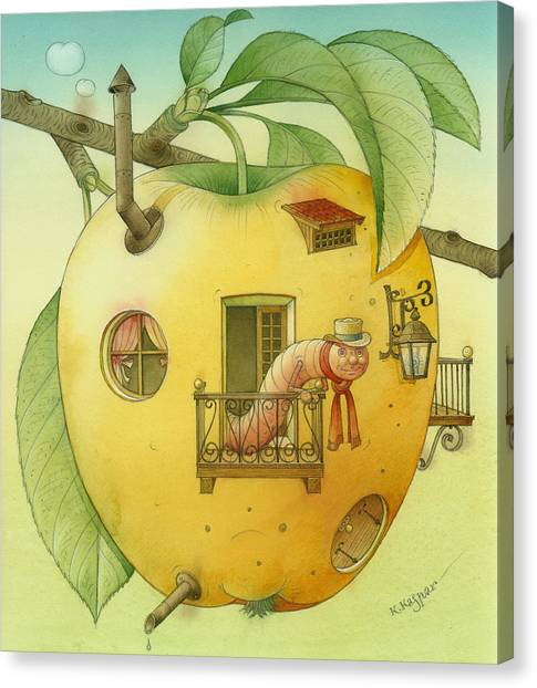 New House Canvas Print by Kestutis Kasparavicius