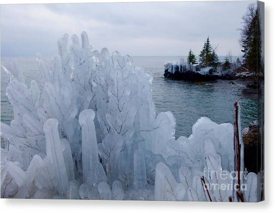 New Ice On Lake Superior Canvas Print