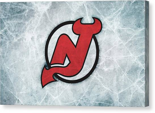 New Jersey Devils Canvas Print - New Jersey Devils by Bert Mailer
