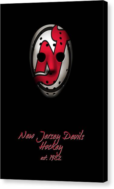 New Jersey Devils Canvas Print - New Jersey Devils Established by Joe Hamilton