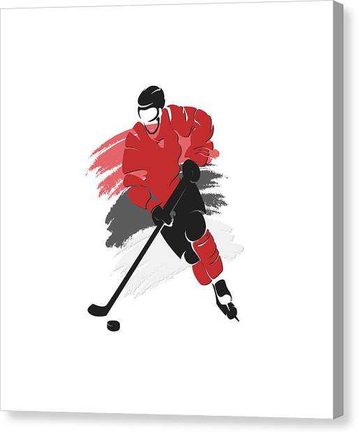 New Jersey Devils Canvas Print - New Jersey Devils Player Shirt by Joe Hamilton