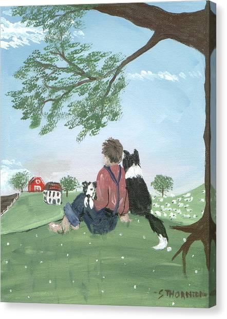New Kid In Town Canvas Print by Sue Ann Thornton