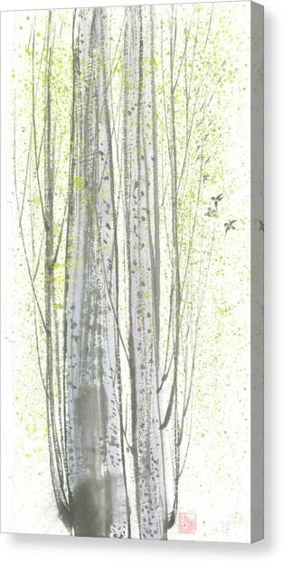 New Leaves Canvas Print by Mui-Joo Wee