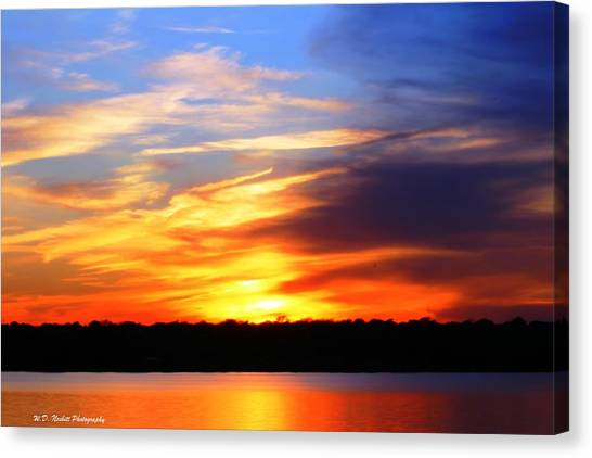 New Longview Sunset Canvas Print