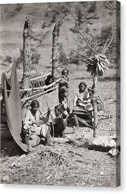 Indian Corn Canvas Print - New Mexico: Navajo, 1873 by Granger