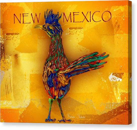 Roadrunner Canvas Print - New Mexico Roadrunner by Barbara Chichester