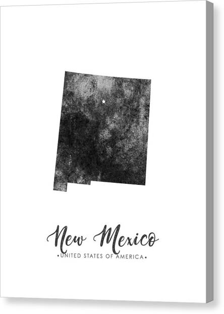 New Mexico Map Canvas Print - New Mexico State Map Art - Grunge Silhouette by Studio Grafiikka