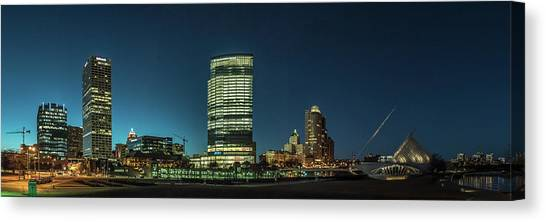 New Milwaukee Skyline Canvas Print