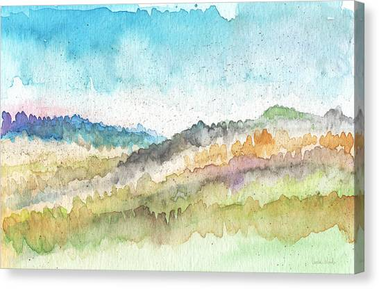 Peaceful Canvas Print - New Morning- Watercolor Art By Linda Woods by Linda Woods