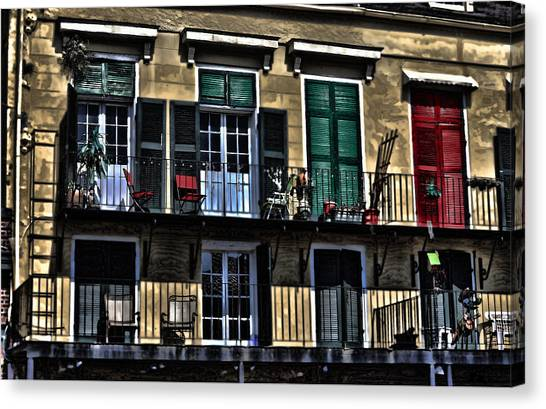 Fuselier Canvas Print - New Orleans Balcony by Cecil Fuselier