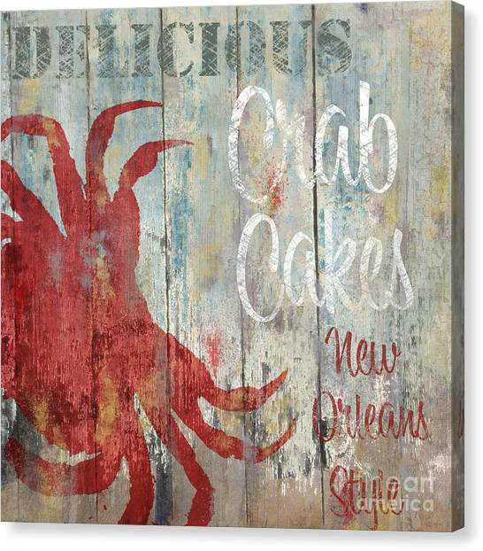Gumbo Canvas Print - New Orleans Crab Cakes by Mindy Sommers