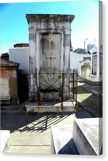 New Orleans Crypt 8 Canvas Print by Patricia Bigelow