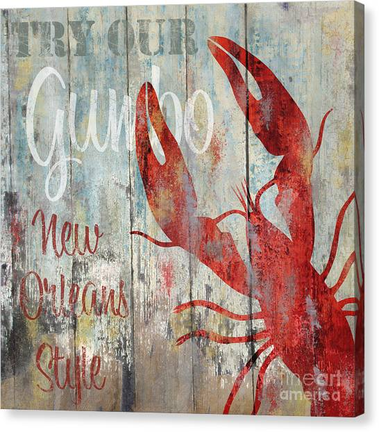 Gumbo Canvas Print - New Orleans Gumbo by Mindy Sommers