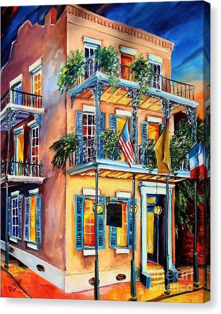 French Quarter Canvas Print - New Orleans' La Fitte's Guest House by Diane Millsap