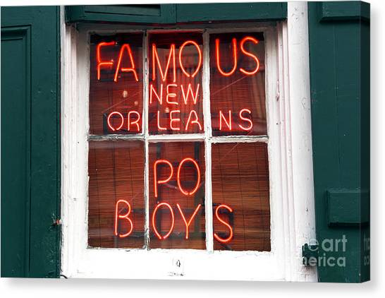 New Orleans Po Boys Canvas Print by John Rizzuto