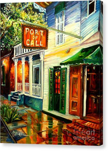 Grills Canvas Print - New Orleans Port Of Call by Diane Millsap