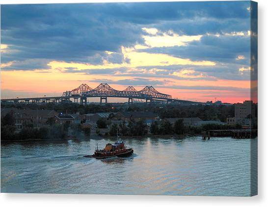 New Orleans Riverfront Canvas Print