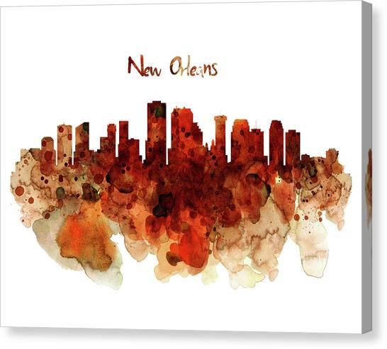 New York Taxi Street City Canvas Wall Art Picture Print Va: New Orleans Skyline Canvas Prints