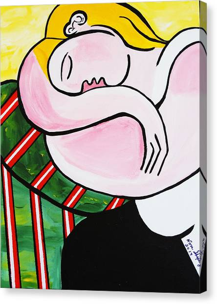 New Picasso By Nora Out Cold Canvas Print