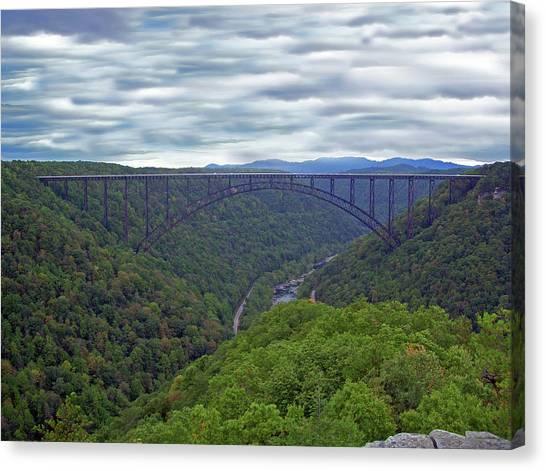New River Bridge Canvas Print