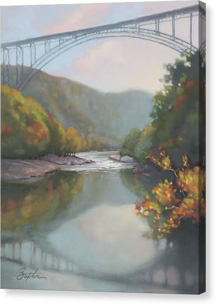 Mountain West Canvas Print - New River Gorge by Todd Baxter